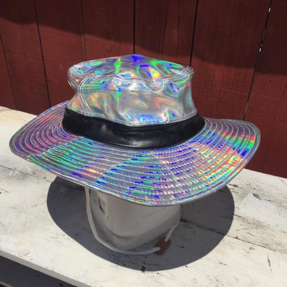 b0faff427c5a3 Accessories - Holographic hat rave festival cap bucket safari